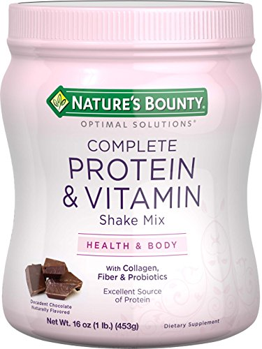 Nature's Bounty Optimal Solutions Protein Shake Chocolate, 16 ounces
