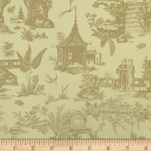 den Toile Indoor/Outdoor Linen Fabric By The Yard (Garden Toile Fabric)