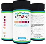 Urinalysis Test Strips, Ketone Strips for Use in Ketogenic, Paleo, and Atkins Diet, 99% Accuracy, Suitable for Diabetics, 100 strips