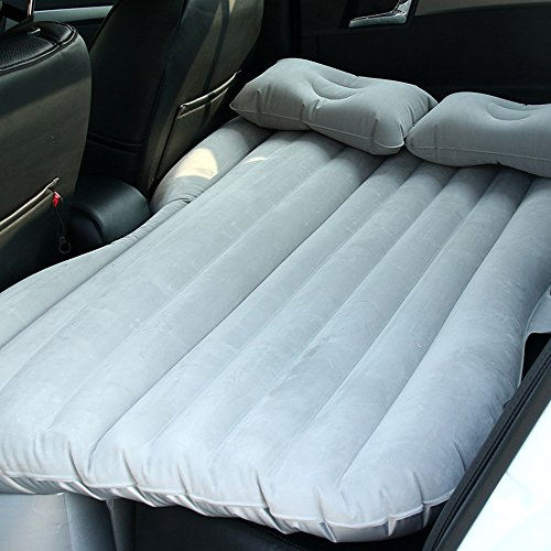 Annababy Car SUV Air Bed For Beach Lawn Travel Mattress Back Seat Multifunctional Camping Universal Mobile Inflatable Airbed Kit Cushion for Sleep Rest,Extra Mattress (Grey)
