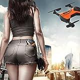 Leewa@ 2.4G 4CH Altitude Hold HD Camera WIFI FPV RC Quadcopter - Pocket Drone Selfie Foldable - Orange