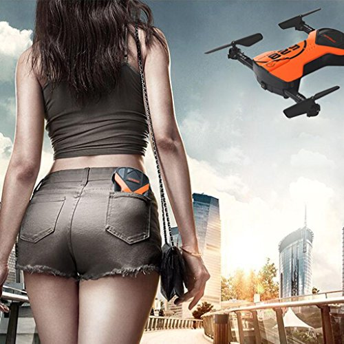 Leewa@ 2.4G 4CH Altitude Hold HD Camera WIFI FPV RC Quadcopter - Pocket Drone Selfie Foldable - Orange by Leewa