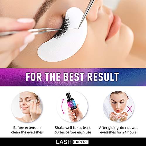 Eyelash Glue for False Eyelashes - Eyelash Extension Glue - Formulated in USA - Lash Adhesive for Long-Lasting Effect - Waterproof Eye Glue for Eyelashes - Pro Eyelash Glue for Single Strand Lashes