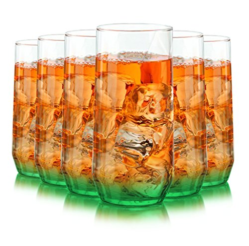 Libbey Diamond Swirl 6 -Piece Glassware Set Bottom Color ...