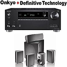 Onkyo Rz Series Audio & Video Component Receiver Black (TX-RZ720) + Definitive Technology ProCinema 600 5.1 Home Theater Speaker System Bundle