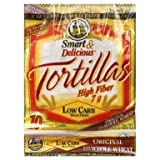 7'' La Tortilla Factory Whole Wheat Low Carb Tortillas (Regular Size) Pack of 3