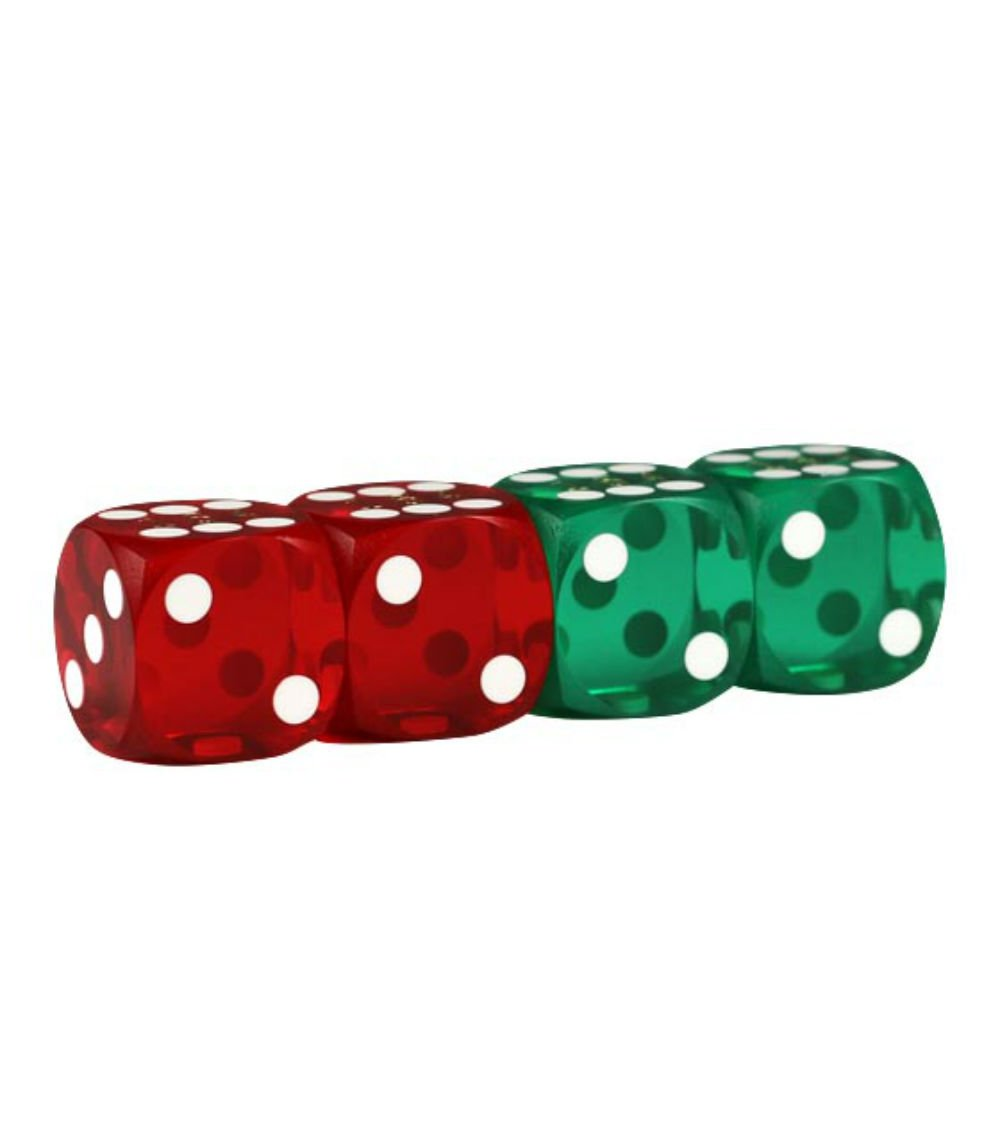 Lion Games & Gifts Europe 343303 16 mm Backgammon Precision Dice (Set of 4)