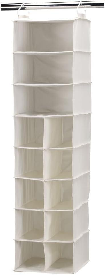 Amazon Com Household Essentials 10 Pocket Hanging Shoe Storage Organizer And 3 Shelf Sweater Organizer Natural Canvas White Home Kitchen