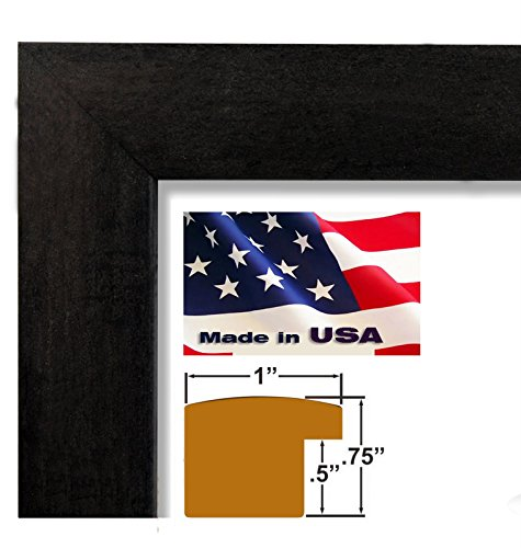 Frames Picture Mdf - US Art 20x30 Elegant Black 1 Inch Nugget Wood Composite MDF Picture Poster Photo Frame