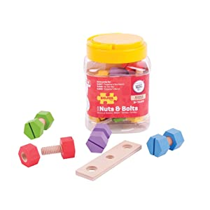 Bigjigs Toys Jar of Nuts and Bolts