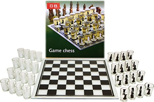 Shot Glass Chess Set Drinking Game - Drunken Chess by Homeware