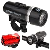 Waterproof Power Beam Lights 5 LEDs Bike Bicycle Accessories Front Head Light