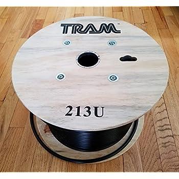 Coax Cable Low Loss RG213U RG213 500 ft Reel Non-contaminating Copper Center Tram 213U