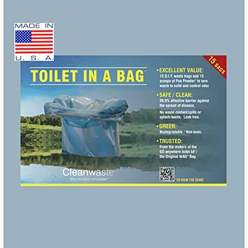 (Cleanwaste Toilet in a Bag-30/Pack (D430W30))