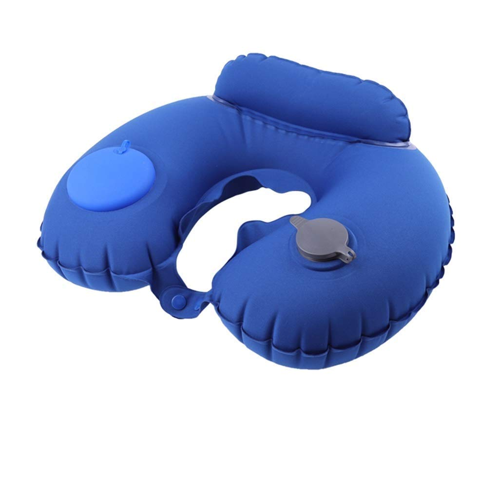 ZSQAW Travel Pillow; Provides Optimum Relief and Support for Travel, Home, Office, Neck Pain, and Many More; Get Wrapped in Extreme Comfort with a Firm Memory Foam Neck Pillow (Color : A)