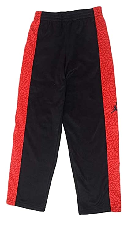 c37d71b55cef Nike Boys Therma-FIT Micro-Fleece Pants Preschool Basketball Pants (Black  Grey