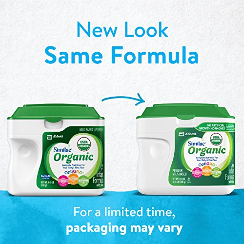 Similac Organic Infant Formula with Iron, USDA Certified Organic, Baby Formula, Powder, 1.45 lb (Pack of 6) by Similac (Image #1)
