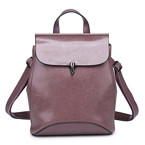 sulandy - Bolso mochila  para mujer negro negro rosa oscuro