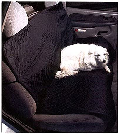 Quilted Pet Seat Cover for Bench Style Seat, 57×46. Black w Diamond Pattern.
