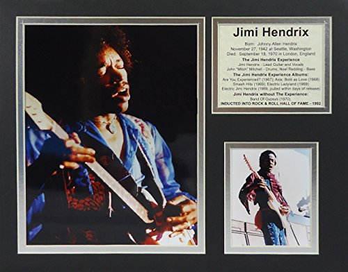 "Jimi Hendrix - Live 11"" X 14"" Unframed Matted Photo Collage By Legends Never Die, Inc."