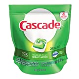 Cascade 41759 13.4-Ounce 2 in 1 ActionPacs Automatic Dishwasher Detergent Bag (5 Bags per Case)
