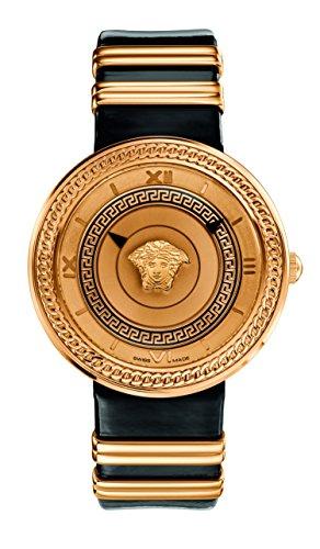Versace Women's VLC030014 V-METAL ICON Analog Display Swiss Quartz Black Watch
