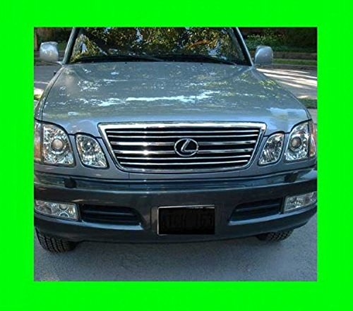 312 Motoring fits 1998-2007 Lexus LX470 Chrome Grill Grille KIT 1999 2000 2001 2002 2003 2004 2005 2006 98 99 00 01 02 03 04 05 06 07 LX 470 ()