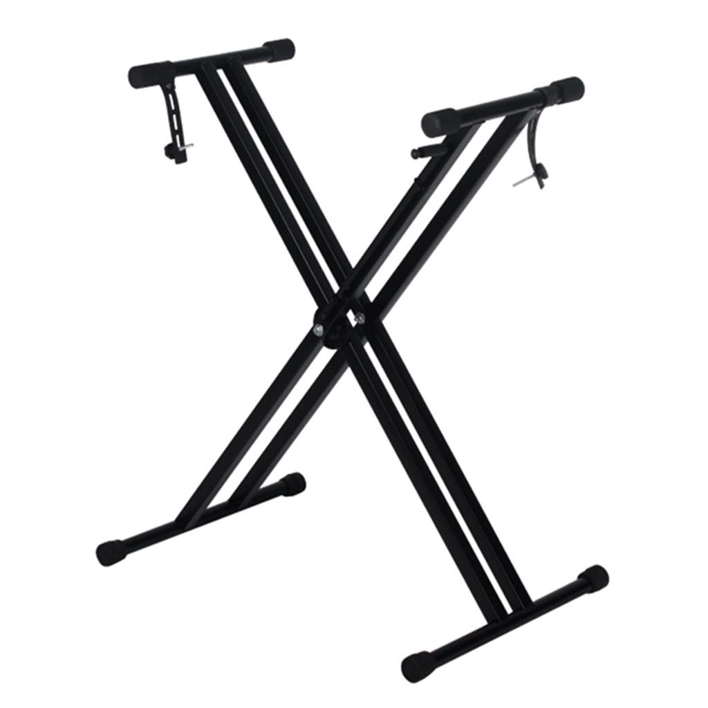 Keyboard Stand Piano Keyboard Stand Synthesizer Stand Foldable 54-88 Key Piano Stand Keyboard Stand Adjustable Height 48-120cm (Color : Black, Size : High 100cm) by Synthesizers & Workstations