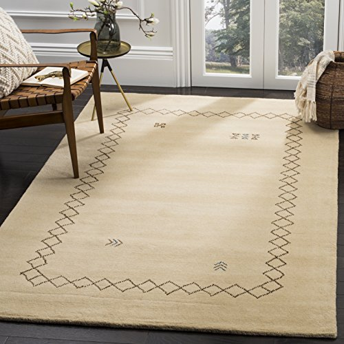 Safavieh Himalaya Collection HIM589A Beige and Multi Wool Area Rug (6' Square)