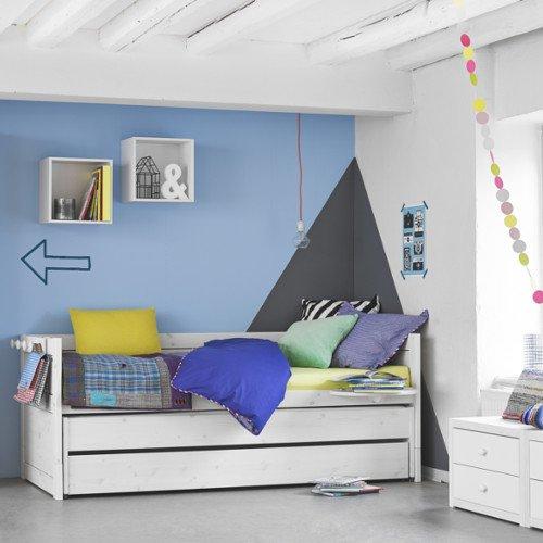 LIFETIME Kojenbett mit Gästebett und Bettschublade, Kiefer, 90x200cm, weiß