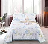 BEIRU Washed Mat Sheet Linen Printing Lace Ice Silk Mat Three Sets ZXCV (Color : 7, Size : 250250cm)
