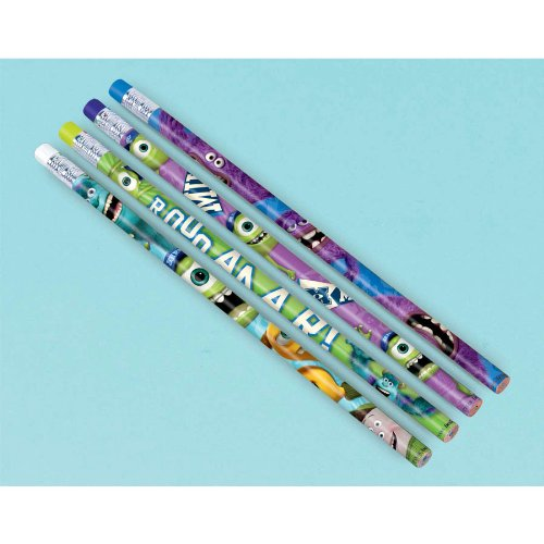 [Amscan Monsterrific Disney Monsters University Pencil Birthday Party Favours Art Supply Prize Giveaway (Pack of 12), Multicolor, 7] (Monster University Costumes)