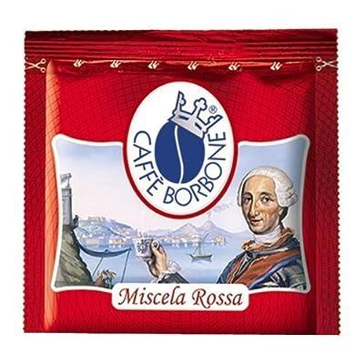 Cafè Borbone - 600 capsules de cafè de Italien Premium - mélange rouge - 100% Arabica - standard ESE 44mm - intensité 9/10