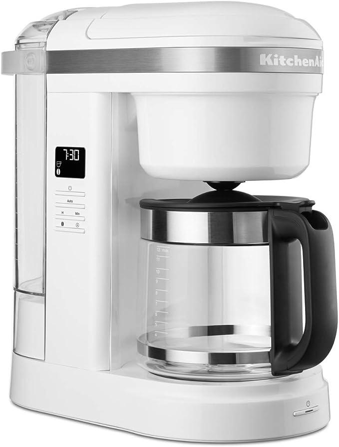 KitchenAid 5KCM1208EWH - Cafetera de goteo, color blanco: Amazon ...
