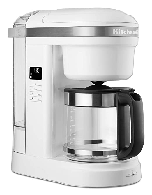 KitchenAid 5KCM1208EWH - Cafetera de goteo, color blanco: Amazon ...