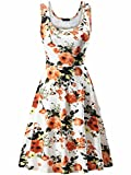 FENSACE Women's A Line Sleeveless Flare Dresses for Women,18034-7,Small