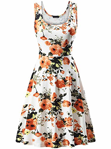 FENSACE Women's Floral Sleeveless Modest Dresses for Women,18034-7,X-Large