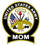 1-Pc Satisfying Modern United States Army Mom Sticker Signs Windows Vinyl Car Decal Size 4.5
