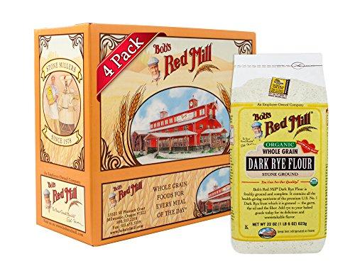 (Bob's Red Mill Organic Dark Rye Flour, 22 Oz (4 Pack))