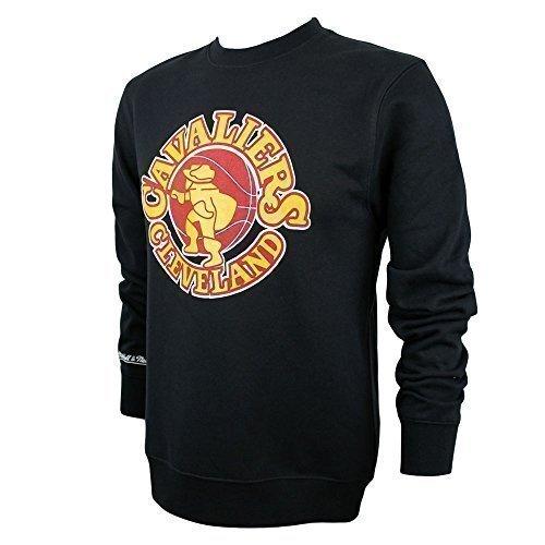 Mitchell & Ness Cleveland Cavaliers Logo Crewneck NBA Sweatshirt Schwarz XL