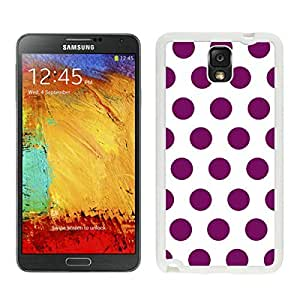 Smart Samsung Galaxy Note 3 Case Polka Dot White and Purple Designer Soft Silicone Rubber White Phone Cover Speck by lolosakes