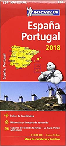 Mapa National España - Portugal Mapas National Michelin: Amazon.es ...
