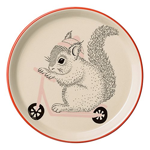 Bloomingville Ceramic Mollie Plate with Squirrel,