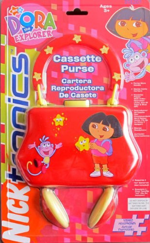 - Dora Explorer CASSETTE PLAYER PURSE w Handle & STEREO HEADPHONES (Viacom)
