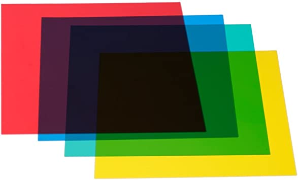 Amazon Com Neewer 12x12inches 30x30centimeters 4 Color Correction Gels Light Filter Transparent Film Sheet For Flash Strobe Red Yellow Green Blue Camera Photo