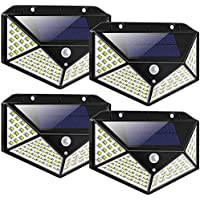 LED Solar Lights Outdoor,100LED Solar Motion Sensor Security Lights,Waterproof Solar Outdoor Wall Light for Gate,Yard…