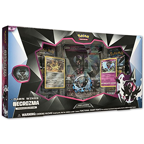 - Pokemon TCG: Dawn Wings Necrozma Premium Figure Collection Box Featuring A Collector's Figure & Pin