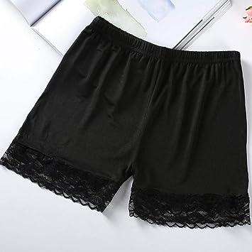 Pantalones Cortos Mujer Encaje Sexy Mujer Algodón Suave Pantalones De Seguridad Sin Costura Pantalones Cortos De Verano Debajo De La Falda Pantalones Cortos De Seda De Hielo Medias Cortas TR: Amazon.es: Deportes