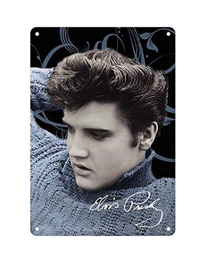 - Elvis Presley 8x11.5 Tin Sign Blue Sweater
