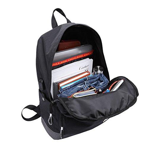 e44eec7d6a0f9 Kinderrucksack mit USB Ladeanschluss TEAMEN Teenager Wasserdicht Daypacks  for Schule und outdoor